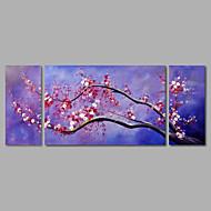 voordelige Artist - Chen-Hang-geschilderd olieverfschilderij Handgeschilderde - Bloemenmotief / Botanisch Modern Kangas