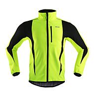 Arsuxeo Bisiklet Ceketi Erkek Bisiklet Ceket Polar Ceketler ÜstlerNefes Alabilir Sıcak Tutma Rüzgar Geçirmez Anatomik Tasarım Yansıtıcı