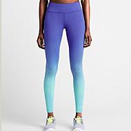 Mulheres Leggings de Ginástica Leggings de Corrida Camiseta Segunda Pele Secagem Rápida Respirável Materiais Leves Compressão Meia-calça