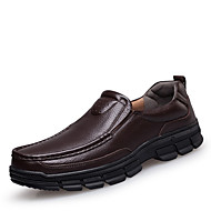 Men's Shoes Leather Spring Summer Fall Winter Comfort Loafers & Slip-Ons For Casual Black Brown