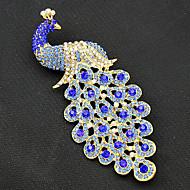 billiga Bröllops- och festsmycken-Dam Broscher - Guldpläterad Påfågel Vintage, Mode Brosch Marinblå Till Party / Speciellt Tillfälle