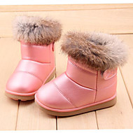 cheap Girls' Shoes-Girls' Shoes PU Leatherette Fur Winter Comfort Booties/Ankle Boots Magic Tape for Casual Outdoor Dress White Pink Fuchsia