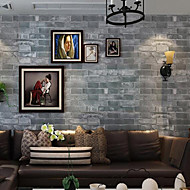 Brick Wallpaper Contemporary Wall Covering , PVC/Vinyl 0.53m*10m