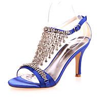 Sandaletler - Düğün / Parti ve Gece - Burnu Açık - Siyah / Mavi / Mor / Kırmızı / Ekru / Beyaz / Gümüş - Kadın - Düğün Ayakkabı