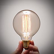 billige Glødelampe-COSMOSLIGHT 1pc 40W E27 E26/E27 G80 Varm hvit 2300 K Glødende Vintage Edison lyspære AC 220V AC 110-130V AC 220-240V V