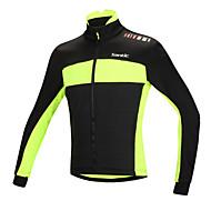 SANTIC Jaqueta para Ciclismo Homens Moto Jaqueta Blusas Inverno Algodão Roupa de Ciclismo Térmico/Quente A Prova de Vento Design