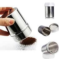 billige Kaffe og te-sjokolade pulver kakao mel shaker glasur sukker cappuccino kaffe sifter flaske