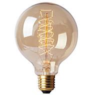 billige Glødelampe-BriLight 1pc 40W E27 E26/E27 G95 K Glødende Vintage Edison lyspære AC 220-240V V