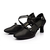 billige Moderne sko-Dame Moderne Silke Innendørs Kustomisert hæl Svart Kan spesialtilpasses