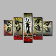 Χαμηλού Κόστους Artist - Yan-Hang-ζωγραφισμένα ελαιογραφία Ζωγραφισμένα στο χέρι - Τοπίο Μοντέρνα Καμβάς Πεντάπτυχα