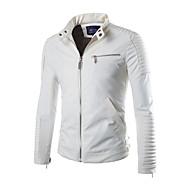 moda masculina de moda feminina elegante jaqueta / casaco, coleira de manga longa sólida