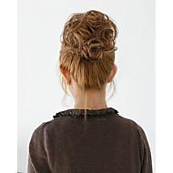 2 015 Новая мода синтетических эластичный невесты волосы булочки волосы шиньон роликовые Хепберн шиньоны волосы синтетический булочка