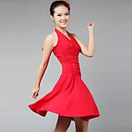 ラテンダンス ドレス 女性用 演出 訓練 プロミックス ドレープ 1個 ノースリーブ ドレス