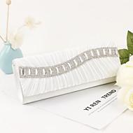 baratos Clutches & Bolsas de Noite-Mulheres Bolsas Cetim / Metal Bolsa de Festa Cristal / Strass Branco / Preto / Vinho / Sacolas de casamento / Sacolas de casamento