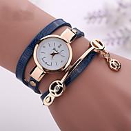 בגדי ריקוד נשים שעוני אופנה שעון צמיד שעונים יום יומיים קווארץ שעונים יום יומיים חיקוי יהלום PU להקה בוהמי שחור לבן כחול אדום
