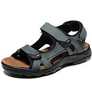 Homens sapatos Pele Napa Primavera / Verão Conforto Sandálias Água Cinzento / Castanho Claro