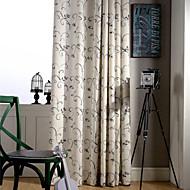 ieftine -țară curtains® două panouri de viță de vie verde floral poliester lenjerie amestec perdea
