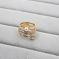 Dame Band Ring - Perle, Rhinsten, Simuleret diamant Mode 7 / 8 / 9 Til Bryllup / Fest / Daglig