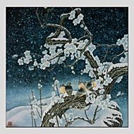 billiga Blom-/växtmålningar-Hang målad oljemålning HANDMÅLAD - Blommig / Botanisk Klassisk Europeisk Stil Moderna Duk