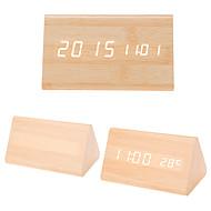 billiga Väckarklockor-Väckarklocka Digital Trä LED 1 pcs / Kalender / Termometer