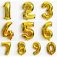 10個入りの大きな金の数0-9風船、新しい年クリスマスパーティー結婚式の装飾バルーン