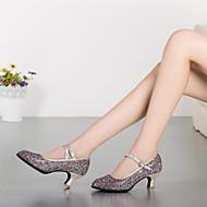 billige Moderne sko-Dame Moderne sko Syntetisk Høye hæler Gummi / Spenne Kustomisert hæl Kan spesialtilpasses Dansesko Rosa / Sølv / Gull / Ytelse / Trening / Profesjonell