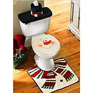 joulu pesuhuone koriste santa lumiukko wc-istuimen kansi