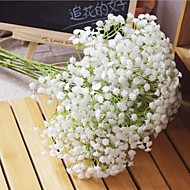 cheap Artificial Flowers-6 Branch Plastic PU Baby Breath Tabletop Flower Artificial Flowers