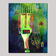 cheap Oil Paintings-Hand-Painted Cartoon Vertical, Modern Canvas Oil Painting Home Decoration One Panel