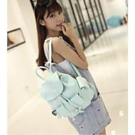 baratos Mochilas-Mulheres Bolsas PU mochila Sólido Café / Azul / Rosa claro