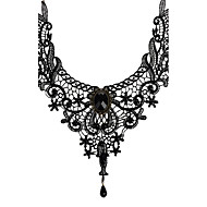 Dame Kort halskæde Halskædevedhæng Smykker Blonde Vintage Brude kostume smykker Smykker Til Bryllup Fest Daglig Afslappet