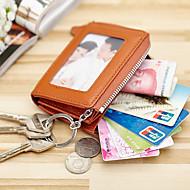 Women Bags Cowhide Card & ID Holder Key Holder Coin Purse for Professioanl Use All Seasons Gold Black Fuchsia Brown Blue
