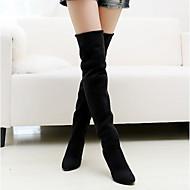 Χαμηλού Κόστους New Styles For Women-Γυναικεία Παπούτσια Δερματίνη Χειμώνας Τακούνι Στιλέτο Ψηλές μπότες Μαύρο / Γκρίζο / Καφέ