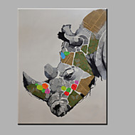 Single Modern Abstract Pure Hand Draw Ready To Hang Decorative The Rhino  Oil Painting