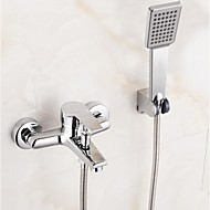 cheap Bathtub Faucets-Shower Faucet Bathtub Faucet - Contemporary Chrome Tub And Shower Ceramic Valve