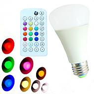 E26/E27 LED kulaté žárovky A60(A19) 18 lED diody SMD 5730 Stmívatelné Dálkové ovládání Ozdobné Teplá bílá Chladná bílá Přirozená bílá R GB