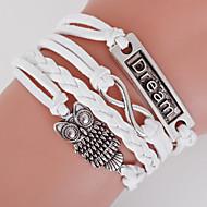 Muškarci Žene razboj narukvice Zamotajte Narukvice Boemski stil Prilagodljivo Double-layer Legura Geometric Shape Sova LOVE Sidro Jewelry