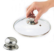 ステンレス鋼調理器具ポット鍋ふた交換ネジハンドル円形器具カバー保持ノブ