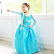 Prinsesse Eventyr Elsa Cosplay Kostumer Film Cosplay Blå Kjole Halloween Nytår Chiffon