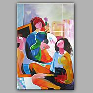 preiswerte Artist - L.Jason-Handgemalte Menschen Vertikal, Modern Segeltuch Hang-Ölgemälde Haus Dekoration Ein Panel