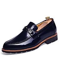 גברים נעליים עור פטנט דמוי עור אביב קיץ סתיו חורף נוחות נעליים פורמלית נעלי אוקספורד ניטים עבור חתונה קזו'אל שחור חום אדום כחול