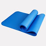NBR Yogamatte 183cm*61cm*1cm Vanntett Fort Tørring Lugtfri Ekstra Lang Klistret Miljøvennlig Ikke Giftig Ekstra Bred 1.5 mm Blå Svart