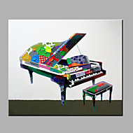 Single Modern Abstract Pure Hand Draw Ready To Hang Decorative The piano Oil Painting