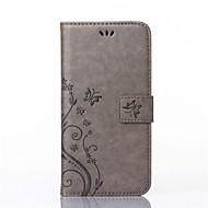 billiga Mobil cases & Skärmskydd-fodral Till huawei Y550 / Övrigt / Huawei P8 Lite / Huawei-fodral Plånbok / Korthållare / med stativ Fodral Fjäril Hårt PU läder för Huawei P8 Lite / Huawei Y550 / Other