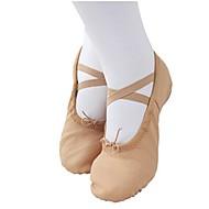 billige Ballettsko-Ballettsko Lerret Flate Flat hæl Kan ikke spesialtilpasses Dansesko Rosa / Beige / Ytelse / Trening