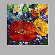 billiga Topp Konstnär-Hang målad oljemålning HANDMÅLAD - Blommig / Botanisk Parfymerad Med Ram
