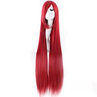billige -Kvinder Syntetiske parykker Veldig lang Rett Rød Halloween parykk Karneval Parykk Kostymeparykk