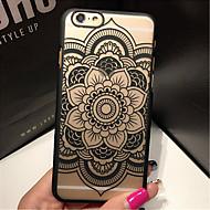 For iPhone 5 etui Transparent Mønster Etui Bagcover Etui Mandala-mønster Hårdt PC for iPhone SE/5s/5