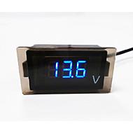 motorkerékpár / autó vezette digitális voltmérő