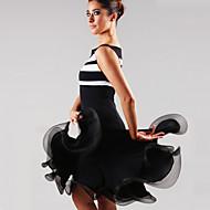 Latin Dans Kjoler Dame Ydeevne Spandex Draperet 1 Stykke Kjole